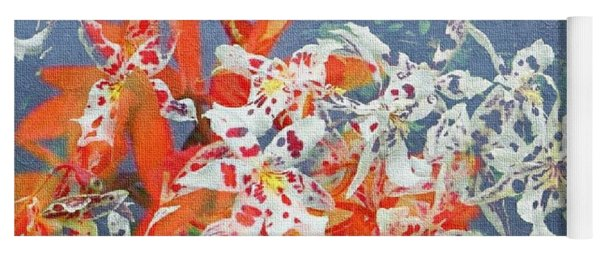 Mix Of Orchids Yoga Mat