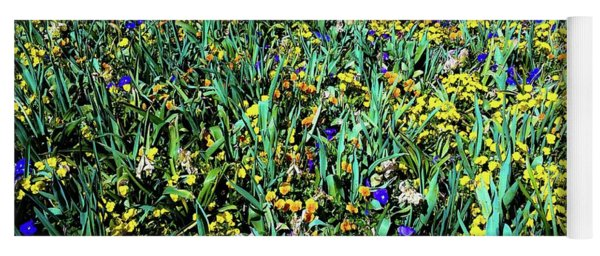 Mixed Wildflowers In Texas Yoga Mat