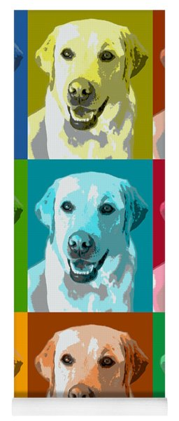 Golden Retriever Warhol Yoga Mat