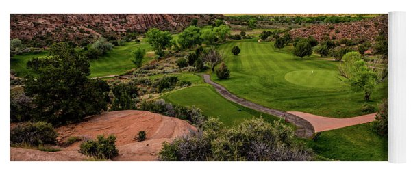 Moab Desert Canyon Golf Course At Sunrise Yoga Mat