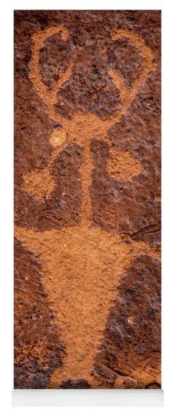 Moab Man Petroglyph Portrait - Utah Yoga Mat