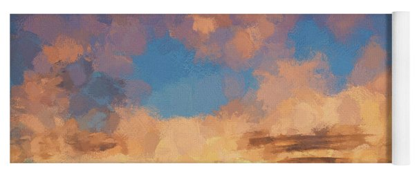 Moab Sunrise Abstract Painterly Yoga Mat