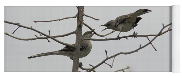 Mockingbirds Talk It Out Yoga Mat