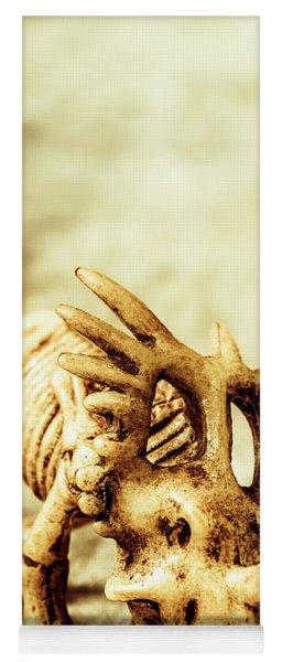Model Styracosaurus Skeleton Yoga Mat