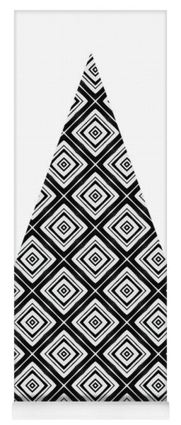 Modern Black And White Tree 1- Art By Linda Woods Yoga Mat