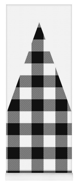 Modern Black And White Tree 2- Art By Linda Woods Yoga Mat