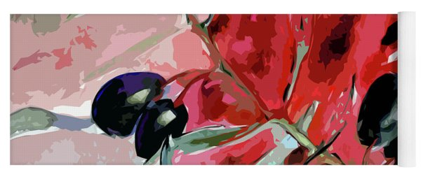 Modern Decor Art Olive Branches Yoga Mat