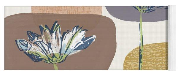 Modern Fall Floral 1- Art By Linda Woods Yoga Mat