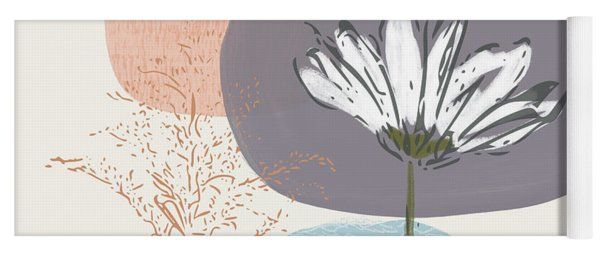 Modern Fall Floral 2- Art By Linda Woods Yoga Mat