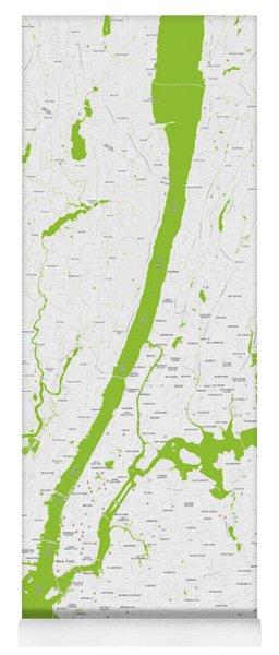 Modern Map Of Upper New York Yoga Mat
