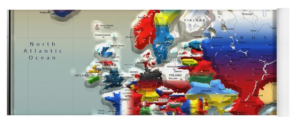 Modern Portrait Of Modern Europe - 3d Yoga Mat