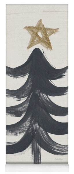 Modern Primitive Black And Gold Tree 1- Art By Linda Woods Yoga Mat
