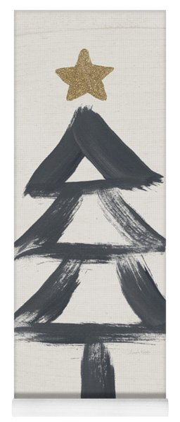 Modern Primitive Black And Gold Tree 2- Art By Linda Woods Yoga Mat