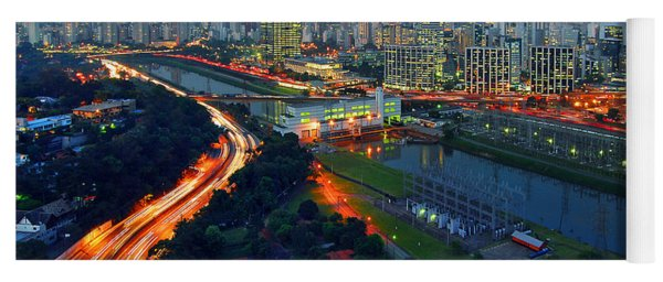 Modern Sao Paulo Skyline - Cidade Jardim And Marginal Pinheiros Yoga Mat