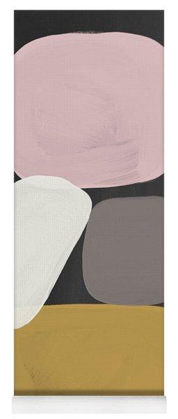 Modern Stacked Stones- Art By Linda Woods Yoga Mat