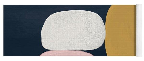 Modern Stones Navy 2- Art By Linda Woods Yoga Mat