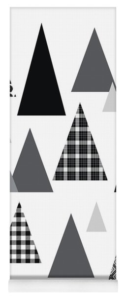 Modern Triangle Trees- Art By Linda Woods Yoga Mat