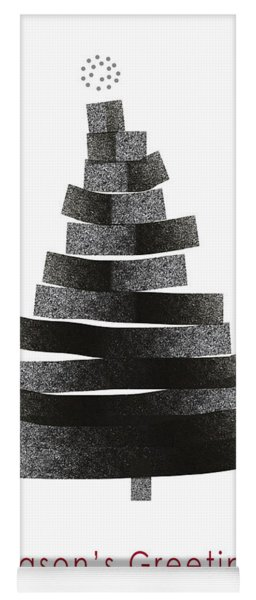 Modern Winter Tree- Season's Greetings Art By Linda Woods Yoga Mat