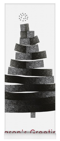 Modern Winter Tree- Season's Greetings Art By Linda Woods Yoga Mat