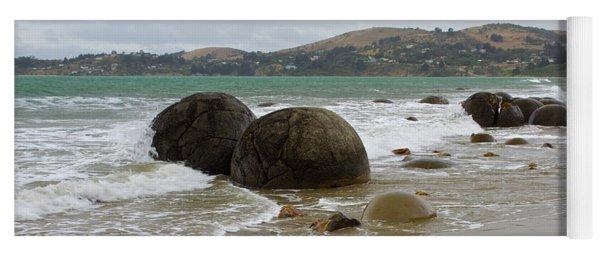Moeraki Boulders, Otago, New Zealand Yoga Mat