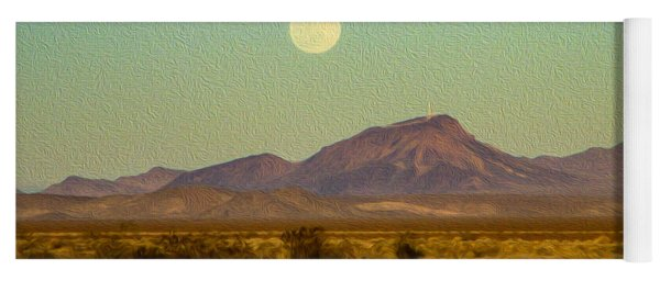 Mohave Desert Moon Yoga Mat