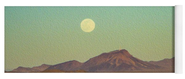 Mohave Desert Moon Yoga Mat