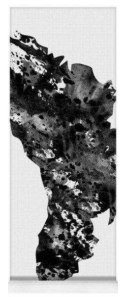 Map Of Moldova-black Yoga Mat