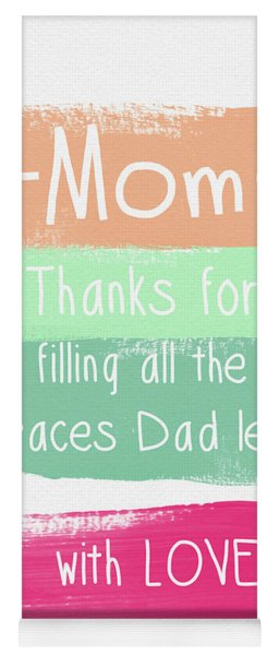 Mom On Father's Day- Greeting Card Yoga Mat