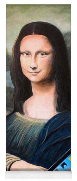 Mona Lisa With Ipad Yoga Mat
