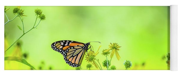 Yoga Mat featuring the photograph Monarch Butterfly by Lori Coleman