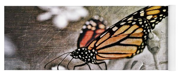 Yoga Mat featuring the photograph Monarch Butterfly by Marianna Mills