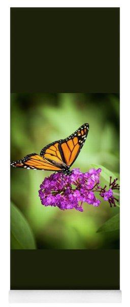 Monarch Moth On Buddleias Yoga Mat