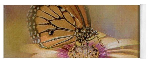 Monarch On A Daisy Mum Yoga Mat