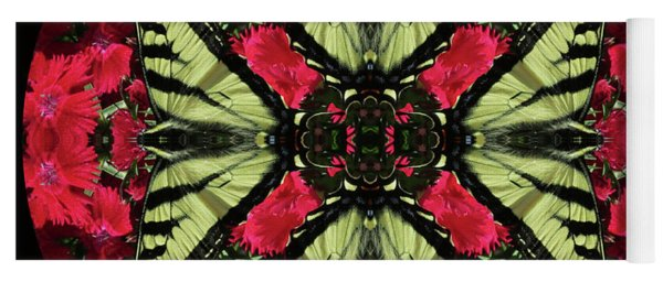 Monarch On Dianthus Kaleidoscope Yoga Mat