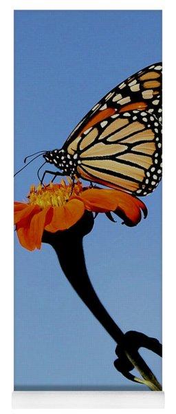 Monarch On Zinnia  Yoga Mat