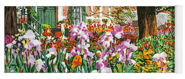 Monet's Irises Yoga Mat