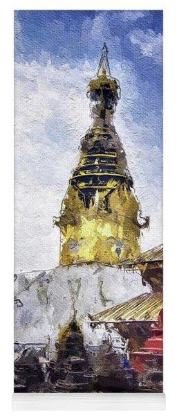 Monkey Temple, Nepal Yoga Mat