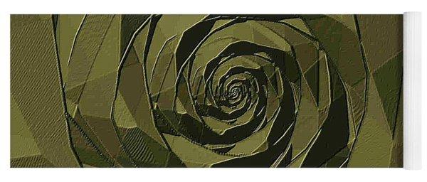 Monochromatic Rose Yoga Mat