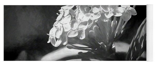 Monochrome Flora Yoga Mat