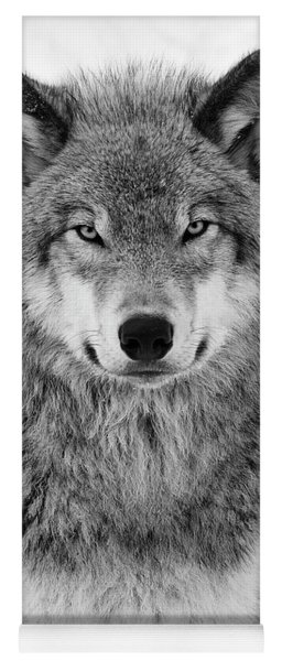 Monotone Timber Wolf  Yoga Mat