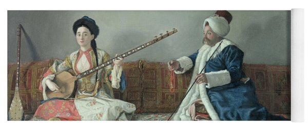 Monsieur Levett And Mademoiselle Helene Glavany In Turkish Costumes Yoga Mat