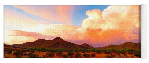 Monsoon Storm Sunset Yoga Mat