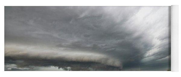 Monster Storm Near Yorkton Sk Yoga Mat