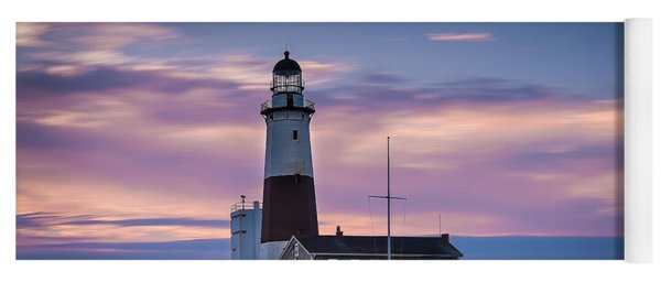 Montauk Lighthousepastel  Sunrise Yoga Mat