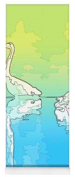 Abstract Herons Shoreline Yoga Mat