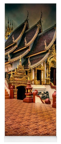 Yoga Mat featuring the photograph Monthian Temple Chiang Mai  by Adrian Evans