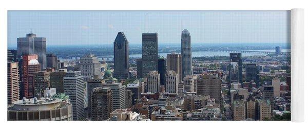 Montreal Cityscape Yoga Mat