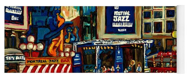 Montreal International Jazz Festival Yoga Mat