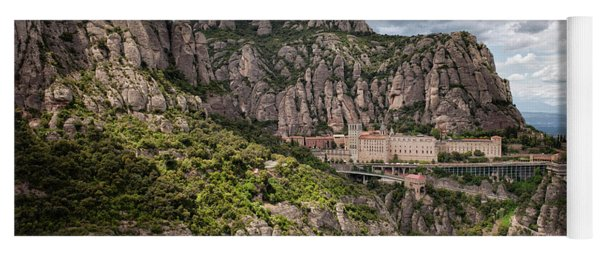 Montserrat Mountains And Monastery In Spain Yoga Mat