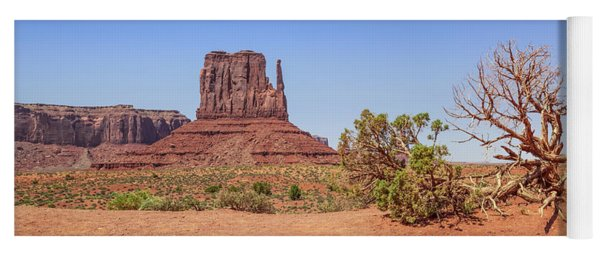 Monument Valley Panoramic View Yoga Mat